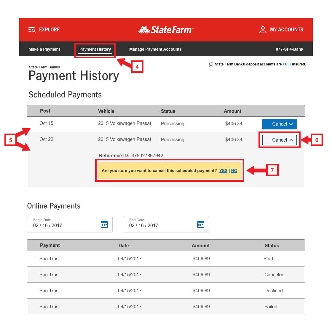 State Farm Bill Pay >> State Farm Bank Vehicle Loan Help Center