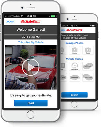 The State Farm Pocket Estimate app (image)