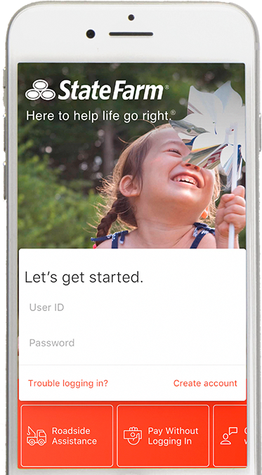 State Farm Mobile App screen example