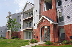 Image of the front of an apartment building