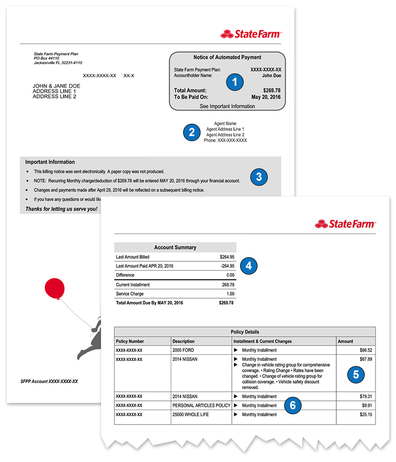 State Farm Bill Pay >> Understanding Your Insurance Bill State Farm