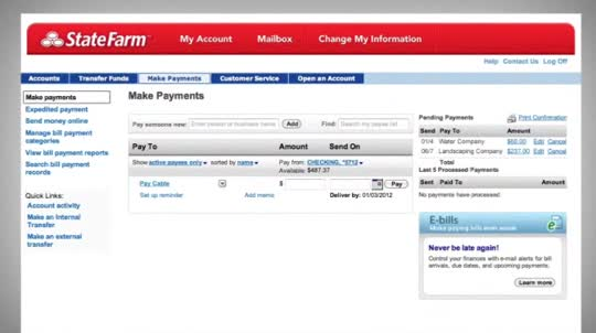State Farm Car Insurance Bill Pay Online