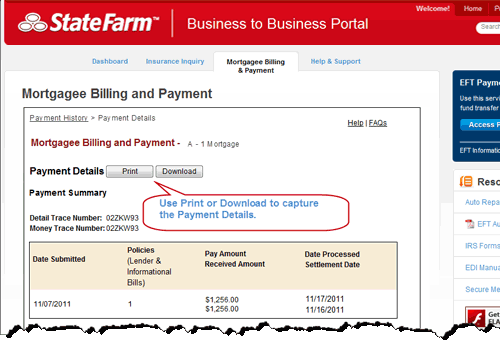 Payment Details - page top