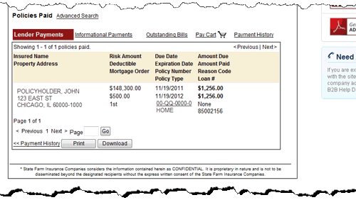 Payment Details - page bottom