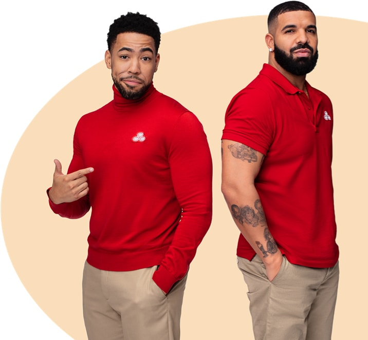Jake from State Farm flips a thumb in Drake's direction.