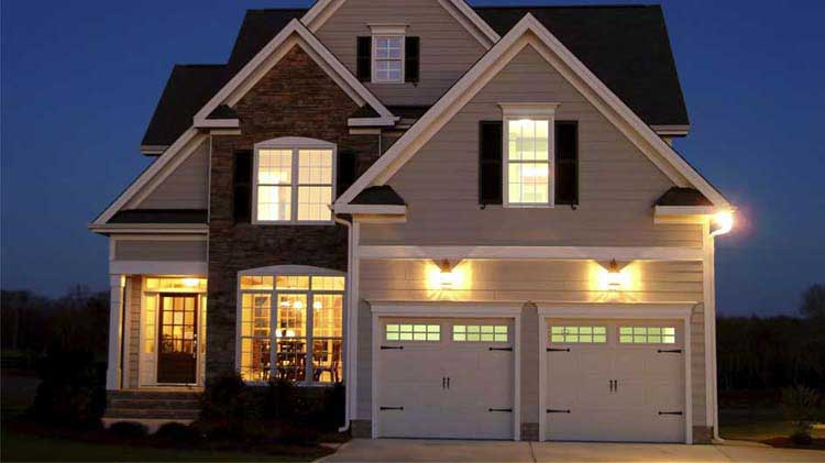 Lighted home for home security