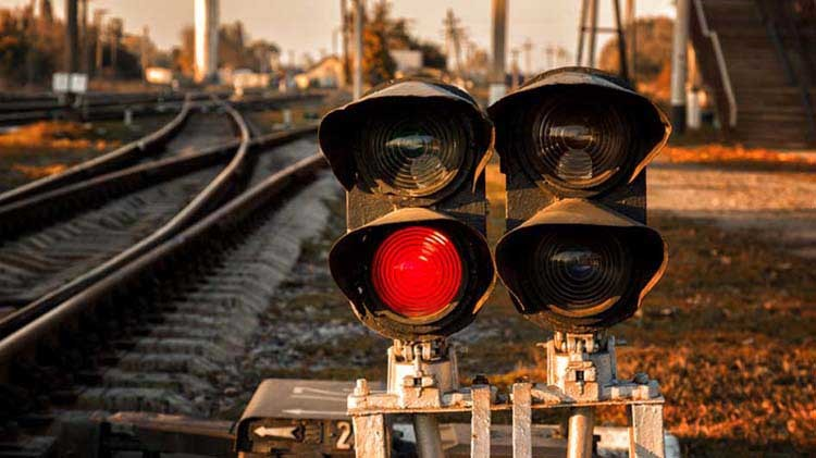 Railroad signal lights
