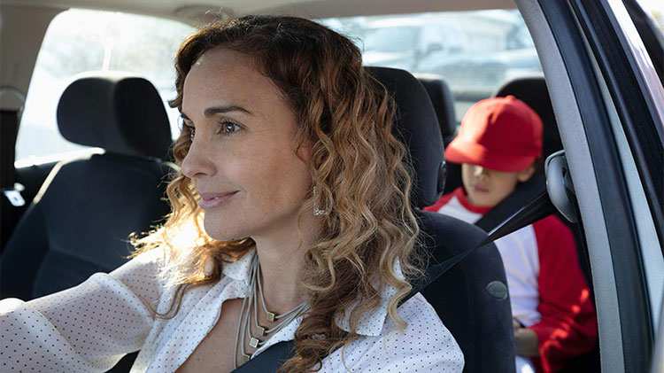 Parent driving child