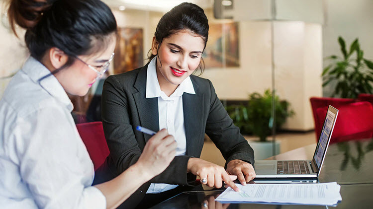 Woman discussing financial planning with a professional