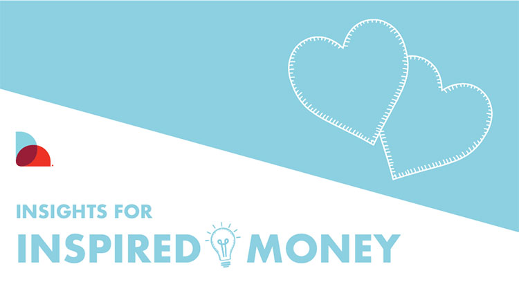 "Next Door graphic with two hearts that says ""Insights for inspired money."""