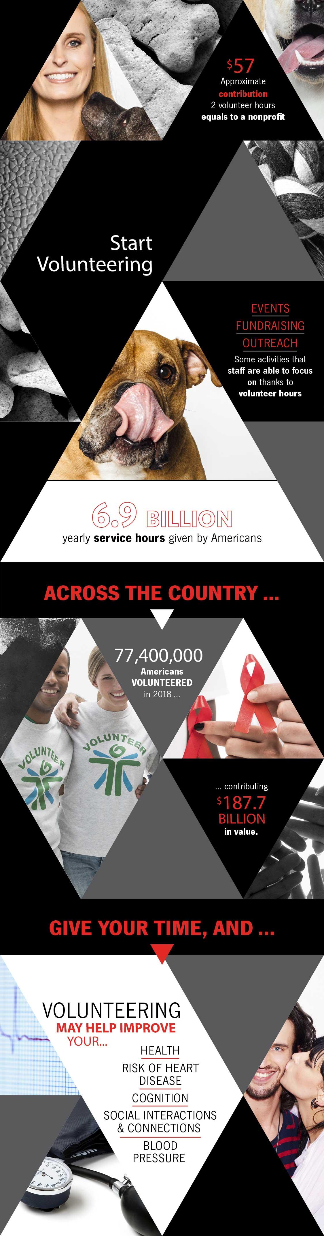 how to start volunteering infographic