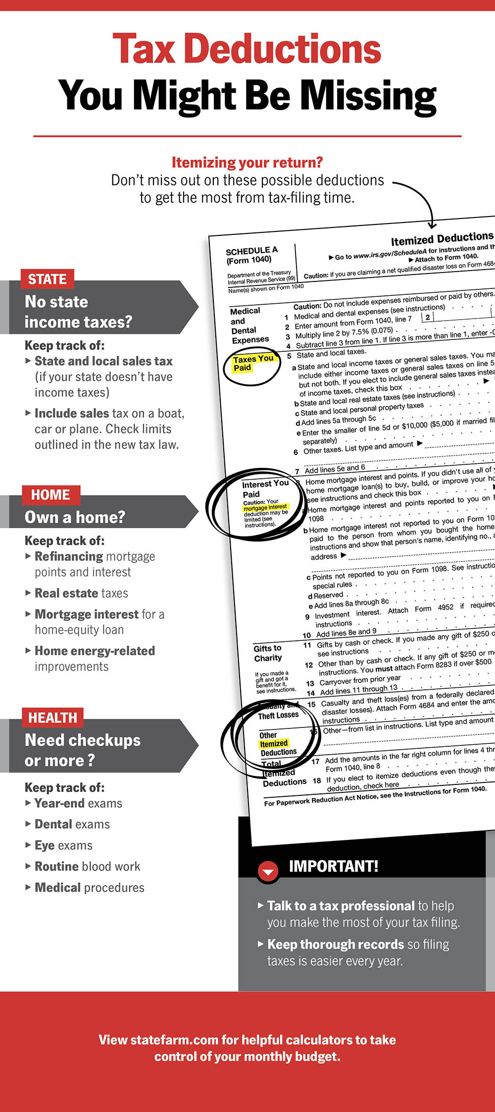 Tax form infographic.