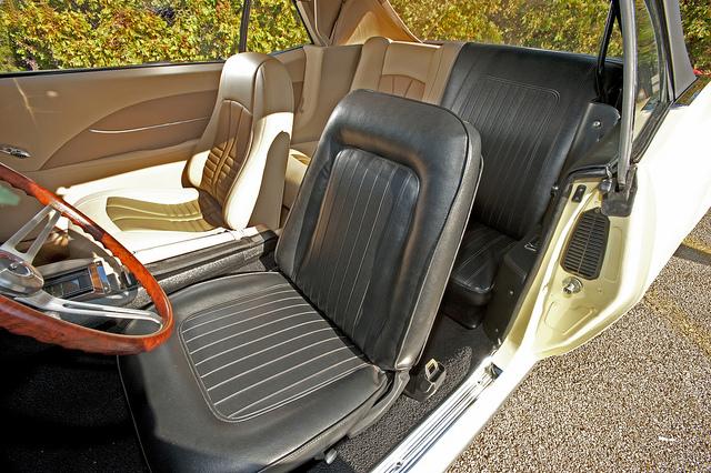 State Farm Split Camaro interior steering wheel and seats
