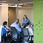 Ambientes colaborativos conectados con la tecnología más reciente.