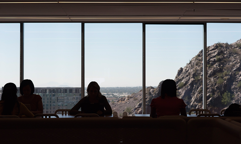 Natural lighting and beautiful views from one State Farm breakroom