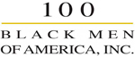 This is the logo for 100 Black Men of America, Inc.