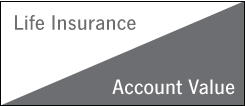 This image depicts a level death benefit equal to the Basic Amount of life insurance you choose.