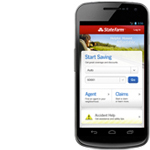 Image of State Farm mobile web