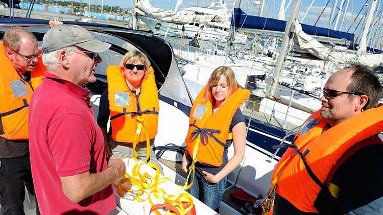 Precauciones de seguridad en las embarcaciones antes de entrar al agua