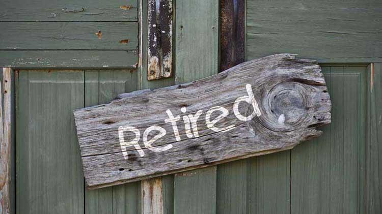 Rustic sign hanging on a door