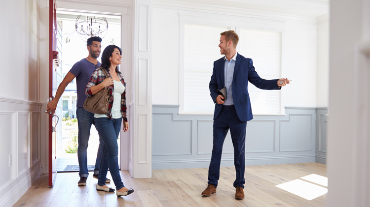 A couple starting the house hunting search