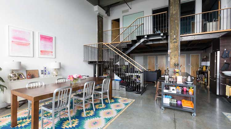 An Industrial Loft Full of Renter-Friendly Ideas