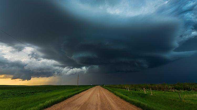 A tornado on the horizon.