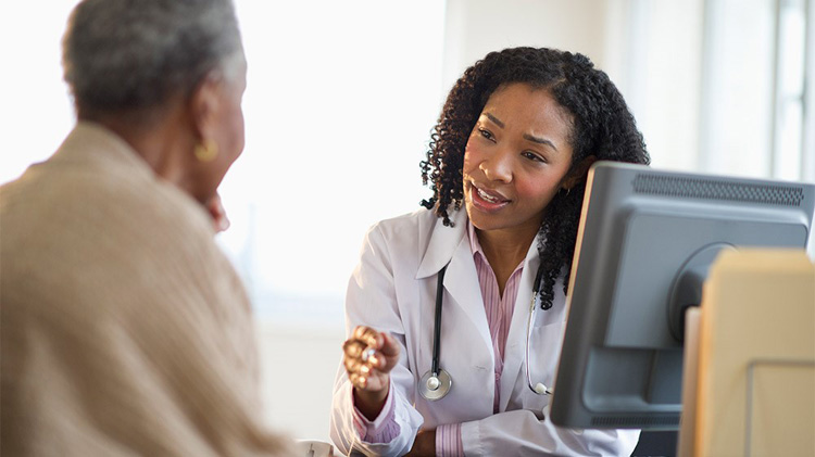 Medical professional offering insights to a patient